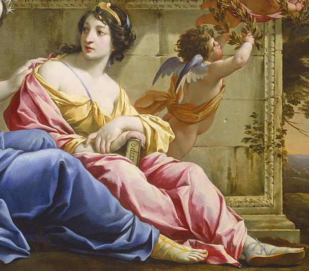 Pintura de Calíope, musa da poesia épica
